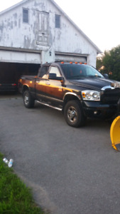 2007 DODGE RAM 2500 WITH NEW FISHER HD PLOW