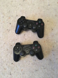 X2 PS3 controllers with charging cables £15 each