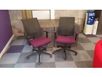Operator Chairs, with lumbar support & height adjustment - in excellent condition