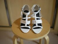 White M & S - Limited Edition Sandals - Size 5.5 - £5