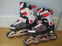 Inline Roller Skate 1-3 (UK) Red White Child Boy Girl