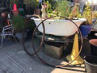 Old cart wheel rims