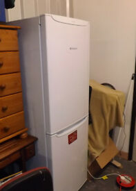 Hotpoint Future Free Standing Fridge freezer White Some Cosmtic Damage But Working Well