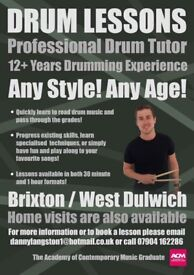 Drum lessons - Any Age, Any Level, Any Style.