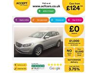 SILVER VOLVO XC60 2.4 D4 AWD R DESIGN LUX  2.0 SE 2WD G/T FROM £124 PER WEEK!