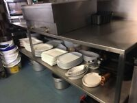 Catering storage preparation table