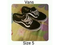 Vans Trainers Size 5