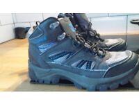 CAMPRI SNOWDON CHARCOAL/BLUE TEXTILE LATHER LACE UP WALKING/HIKING BOOTS Size UK 4 EU 37