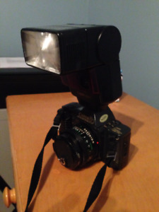 Canon T70 and dedicated flash