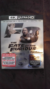 4K The Fate of the Furious Blu Ray Sealed