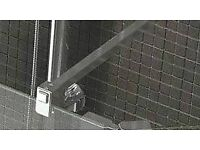 Chrome shower glass support arms x2