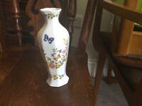 Aynsley Ainsley Cottage Garden Small Vase Height 7in/17.5cm Diameter 9in/23cm