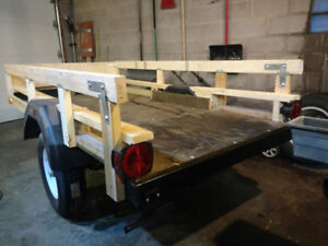 Reduced 4x8 new deck, coupler, axle, tires, and springs!