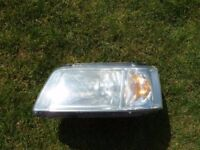 VW TRANSPORTER T5 HEADLAMP HEADLIGHTS L/H PASSENGER SIDE AND O/S OFFSIDE DRIVERS SIDE GOOD CONDITION
