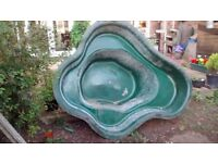 peformed pond liner - 6ft x 4.5ft plus waterfall feature