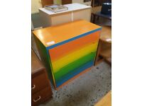 Multi-coloured chest of drawers (from Cambridge Re-use, a Charity Organisation)