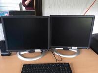 2 x Dell Flatscreen Monitors