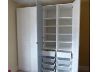 Double Wardrobe for Master Bedroom (IKEA Pax system, <1yr old) incl. shelfs, hanger, baskets etc