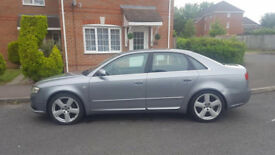 2006 AUDI A4 2.0 B7 TDI S LINE 4 DR, ONLY 99K GUARENTEED MILAGE, 12 MONTHS MOT, SERVICE HISTORY,