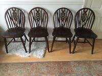Set of 4 beautiful wooden antique style chairs