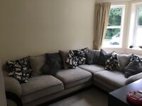 Large corner sofa and matching cuddle chair