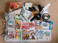 Nintendo Wii bundle with 14 games, Family Trainer Mat & 4 controllers