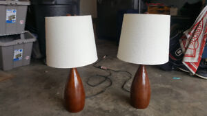 2 table lamps - price is firm