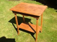 Vintage solid mahogany distressed hall table
