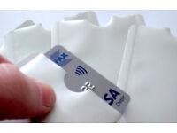 RFID blocking credit card wallet sleeve
