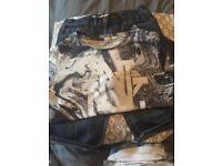 Boys 8-9 denim shorts and t-shirt