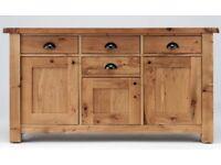 Solid Oak Wide Sideboard