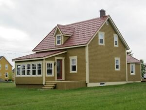 jolie maison Baie des Chaleurs en Gaspésie