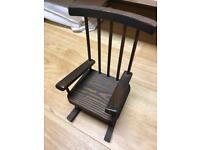 "10"" wooden decorative rocking chair"