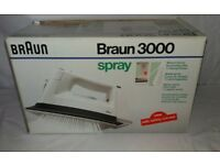 Braun 3000 Steam Spray Iron Boxed With Instructions Mint Condition (PAT TESTED)