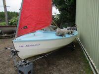 grp wayfarer sailing dinghy