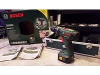 Bosch Drill PSB 1800 LI-2 (Two batteries) as new barely used with Bosch tool case.