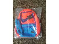 New In Pack Orange Blue Backpack / School Bag With Pencil Case