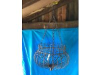 Hanging wire work planter boxes.Chain with S hook makes it easy to hang anywhere