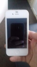 White i phone 4s any network just abit damaged on the back other then that good condition