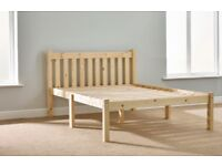 Small double bed frame with memory foam layered 22cm mattress