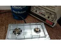 Camping stove & gas canistor sold