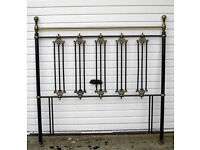 BEDROOM / SHABBY CHIC VICTORIAN STYLE METAL DOUBLE BED HEAD FOR DIVAN STYLE BED FITTING