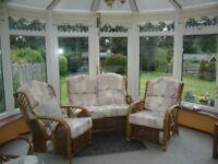 Cane 3-piece conservatory suite