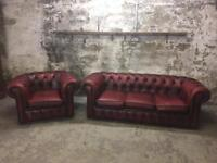 Vintage Chesterfield Two Piece Suite