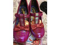 Irregular Choice Lazy Rivers Shoes Pink Size 41