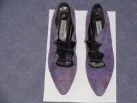 Mauve suede shoes, size 39.5/UK 6.5