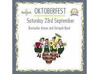 Oktoberfest Bierkeller dinner and Oompah Band
