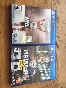 NHL 16 and Madden 25 for PS4