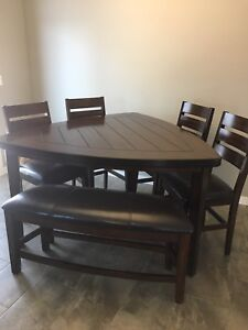 Large Bar Height Dining Set
