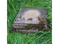 Concrete stone pot stand